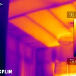 Thermal scan of ceiling tile insulation