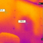 Infrared scan of wall insulation